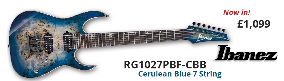 Ibanez RG1027PBF-CBB Premium Cerulean Blue Burst 7