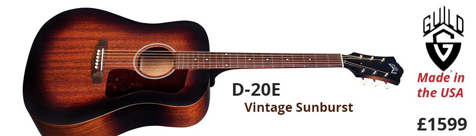 Guild D-20E Vintage Sunburst