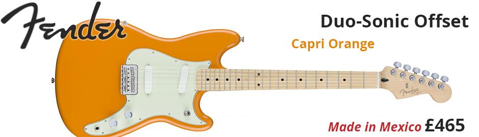 Fender Duo-Sonic Capri Orange Offset