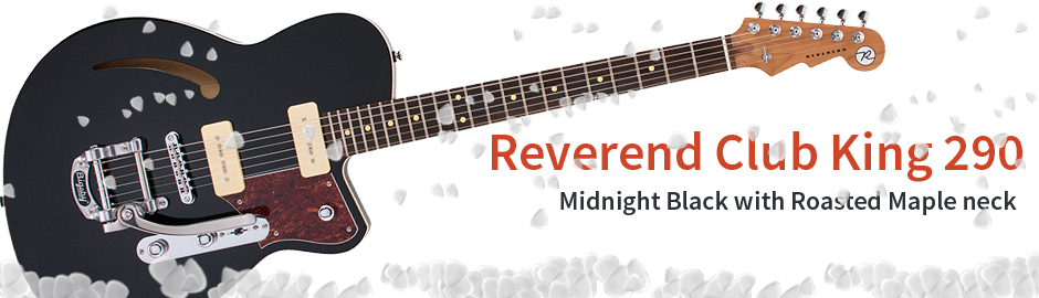 Reverend Club King 290 Midnight Black Roasted Maple