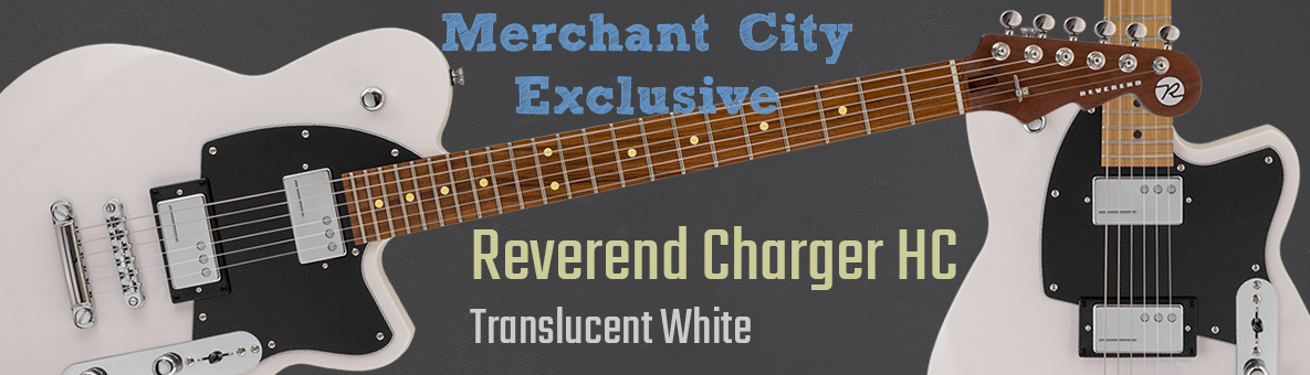Reverend Charger HC Trans White