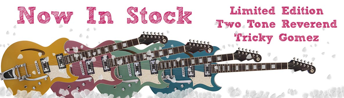 In Stock - Reverend Tricky Gomez Two Tone 2018 Limited Edition